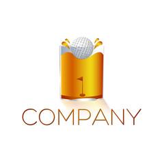 логотип гольф бар