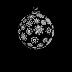 Black and White Christmas ball. + EPS8