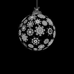 Black and White Christmas ball. + EPS8