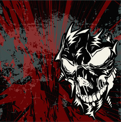 Street art skull vector background