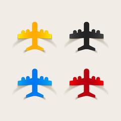 realistic design element: plane