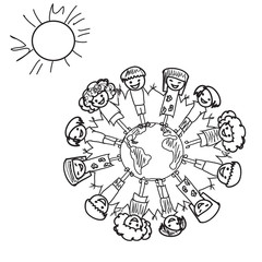 Earth  Kids Doodle