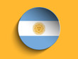 Flag Paper Circle Shadow Button Argentina