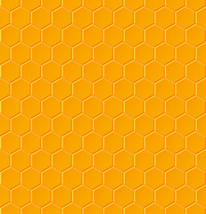 Seamless geometric pattern with honeycombs