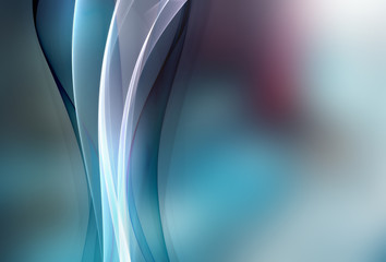 Awesome abstract blue element For Your Art Design