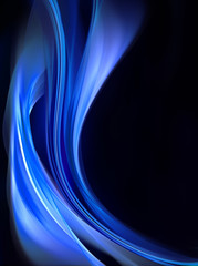 Creative Blue Waves For Your Art Design