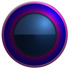 Bouton web rond bleu/rose dégadé