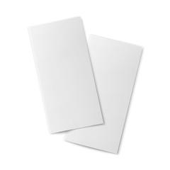 Pair of  blank bifold paper brochures.