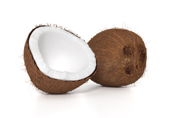 Fresh brown coconut