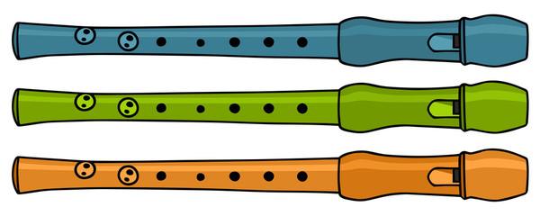 plastic fipple flutes