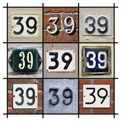 Collage of House Numbers Thirty-nine