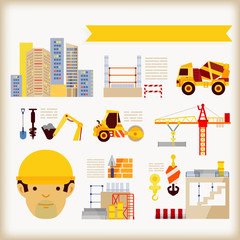 info-graphics of Building Construction