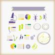 Постер, плакат: info graphics of sciencebacteria