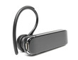 Black Bluetooth Headset on White background