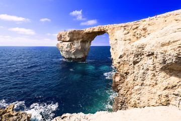 Azure Window on Gozo Malta thin bridge