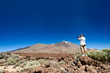 Man taking picture near Teide Volcano Tenerife Island