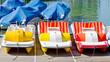 Bunte Tretboote am Bodensee - 65718936