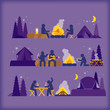 vector of campfire - 65719111