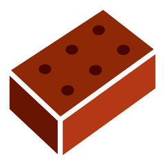 Brick - red brick isolated on a white background