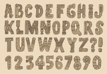 original cartoon robot font (type)