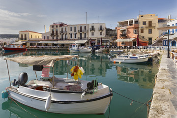 Old harbor of Rethymno city