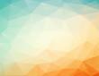 orange - blue background with triagles