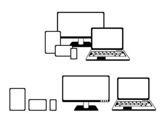 simple scheme of responsive devices, illustration