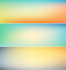 set of abstract blurry backgrounds