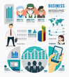 Infographic Business job template design . concept vector
