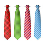 Fototapety Plaid, checkered silk ties template