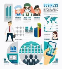 Infographic Business job template design . concept vector