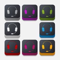 square button: headphones