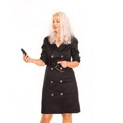 Attraktive Geschäftsfrau mit Telefon