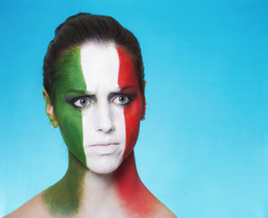 Disappointed italian supporter for FIFA 2014 looking aside