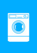 Washing machine on blue background
