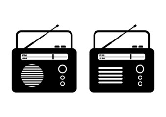Radio on white background