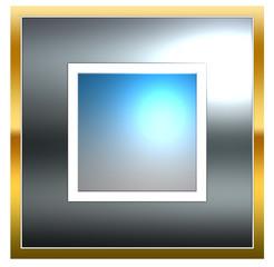 bouton web vierge carré sobre