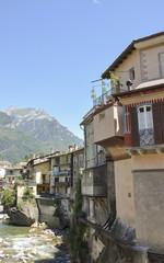 Chiavenna, Altstadt, Mera, Fluss, Lombardei, Alpen, Italien