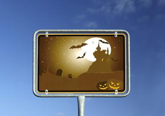 Schild Halloween © Matthias Buehner
