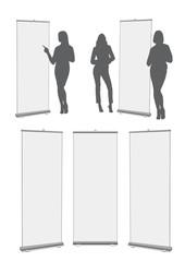 Hostess e cartelli pubblicità
