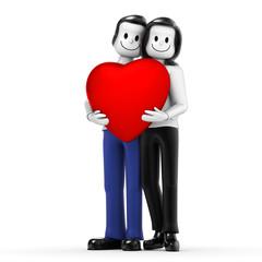 Paar mit Herz 02