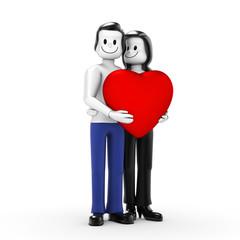 Paar mit Herz 01