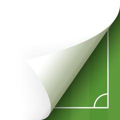 Paper lower right corner soccer field