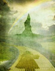 oz 1 with rainbow and dorothy
