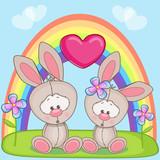 Fototapety Lovers Rabbits