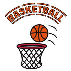 Basketball spiel korb