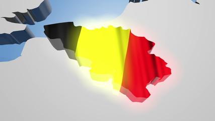 Belgium Earth Zoom
