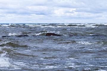 Stormy Baltic sea.