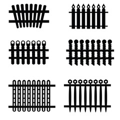 silhouettes of fences