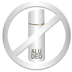 Aluminium-Deodorant weiß, Vektor